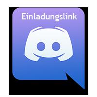 Discord Logo mit Einladungslink